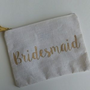 New Mudpie Bridesmaid Make-up Zipper Bag
